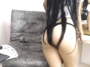 Cute Long Haired Colombian Striptease, Long Hair, Hair
