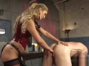 Cherie DeVille pegging submissive guy