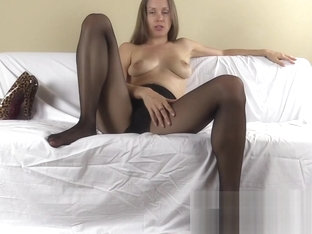 Pantyhose FemDom humiliates you and tells you what to do and