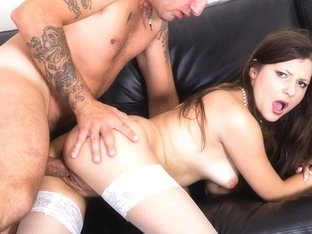 Sexy Russian Busty Brunette Victoria Has A Hardcore Casting Audition Backroom - Privatecastings